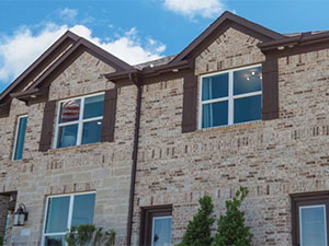 Energy Efficient Windows in Colleyville, Texas on a brick house