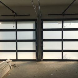 Privacy Film Applied to Garage Door